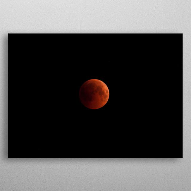 Lunar eclipse metal poster