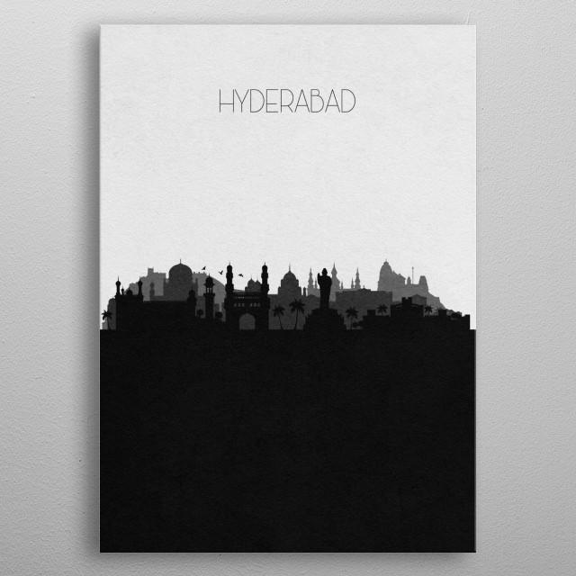 Destination: Hyderabad metal poster