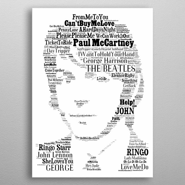 Paul McCartney The Beatles metal poster