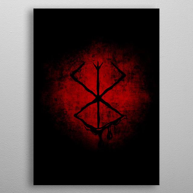 Berserk Black Marked metal poster