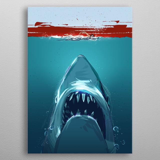 JAWS metal poster