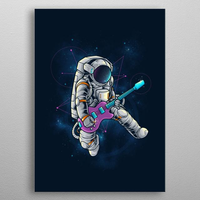 Space Rocker metal poster