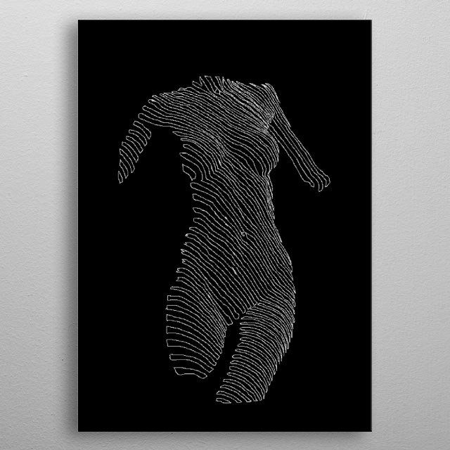 Pretty lines. metal poster
