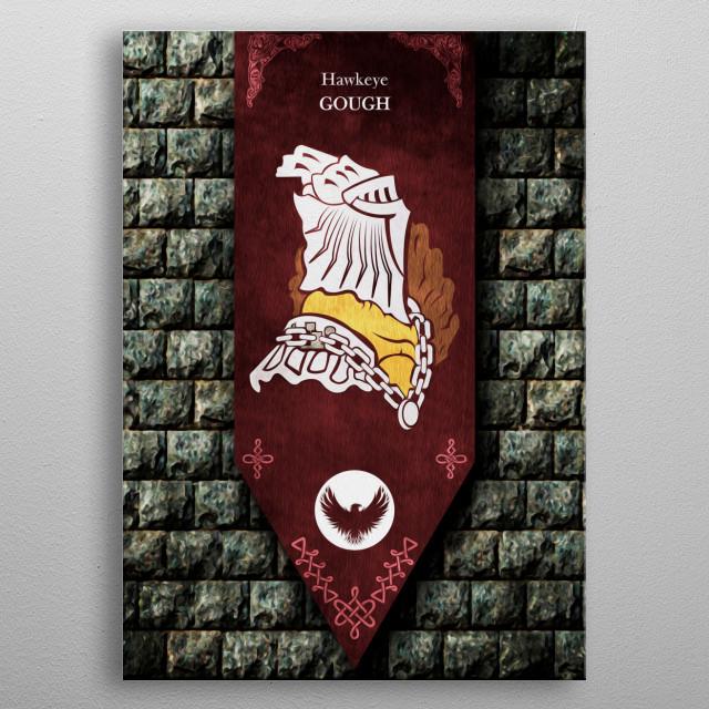 Gough War Banner metal poster