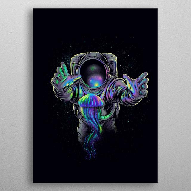 Jellyspace2 metal poster