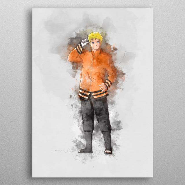 Naruto / Hokage metal poster