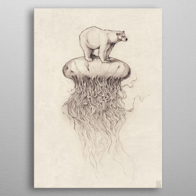 Polar Jellyfish metal poster
