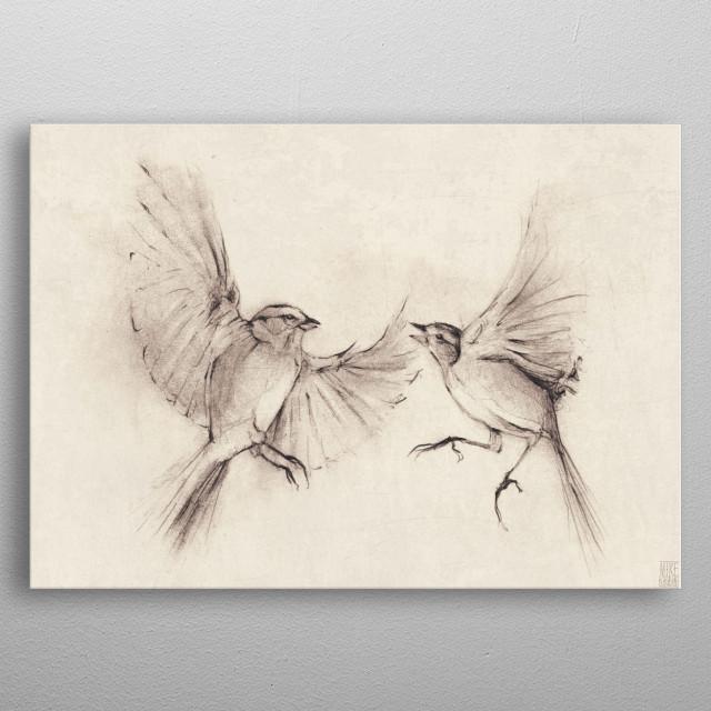 birds metal poster