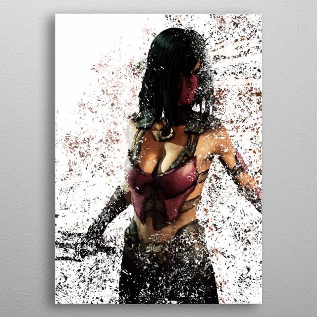 Mileena metal poster