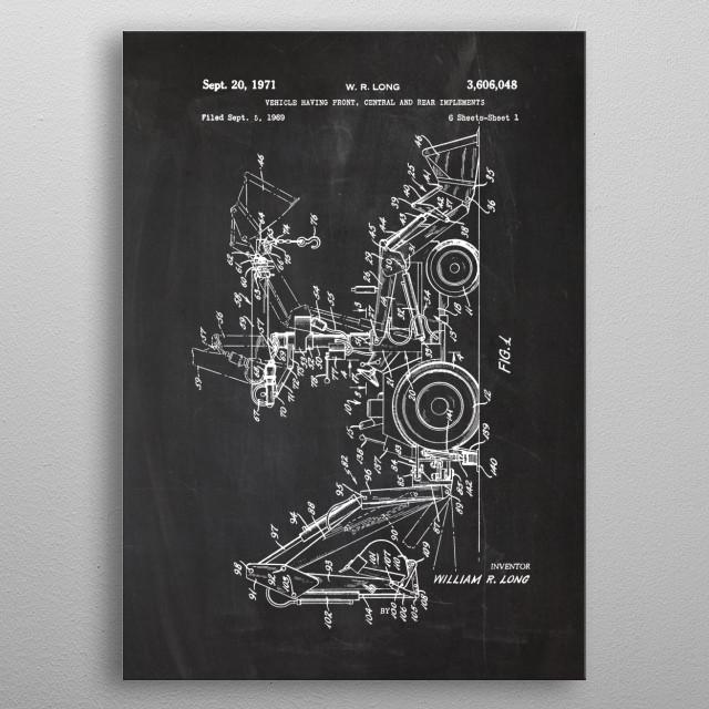 1969 Excavator-Patent metal poster