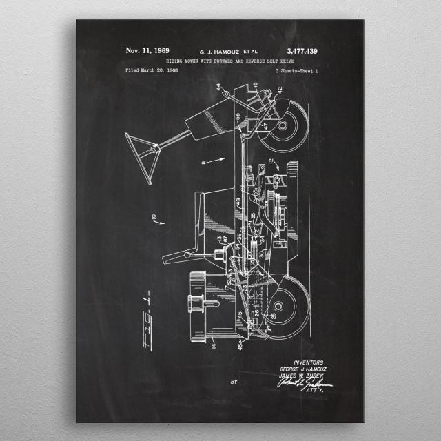 1969 Riding Mower metal poster