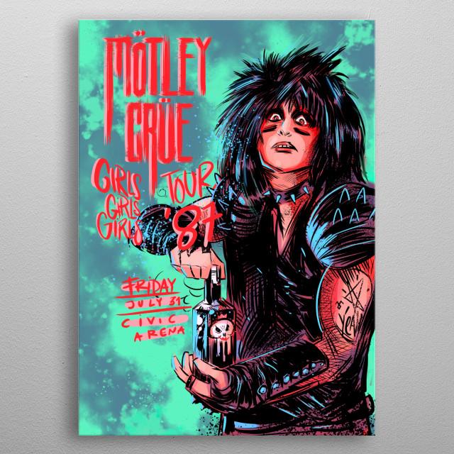 Motley Crue metal poster