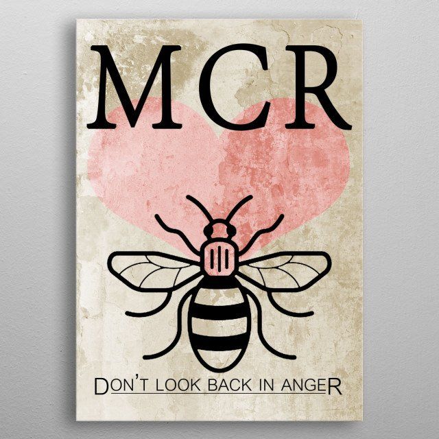 Manchester Forever  metal poster