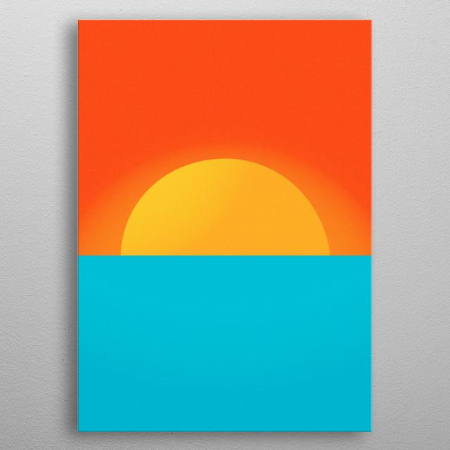 Sunset Sunrise metal poster