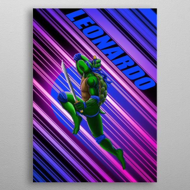 TMNT-Leonardo metal poster