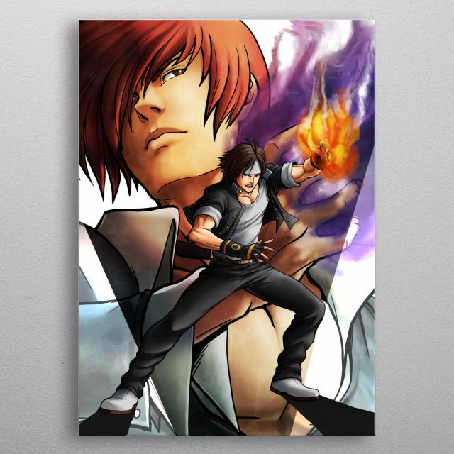 Fighters  (KOF artwork ) metal poster