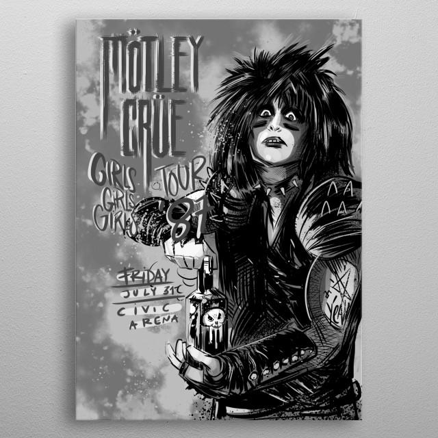 Motley Crue grayscale edition metal print metal poster
