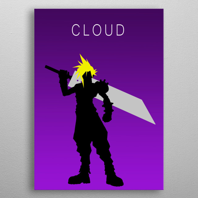 Minimalist Cloud metal poster