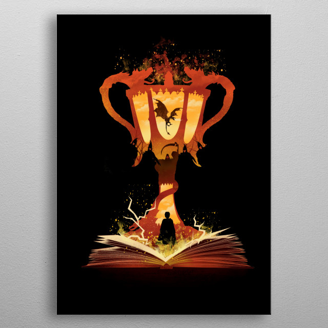 The 4th Book of Magic metal poster