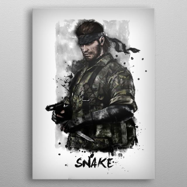 Solid Snake metal poster