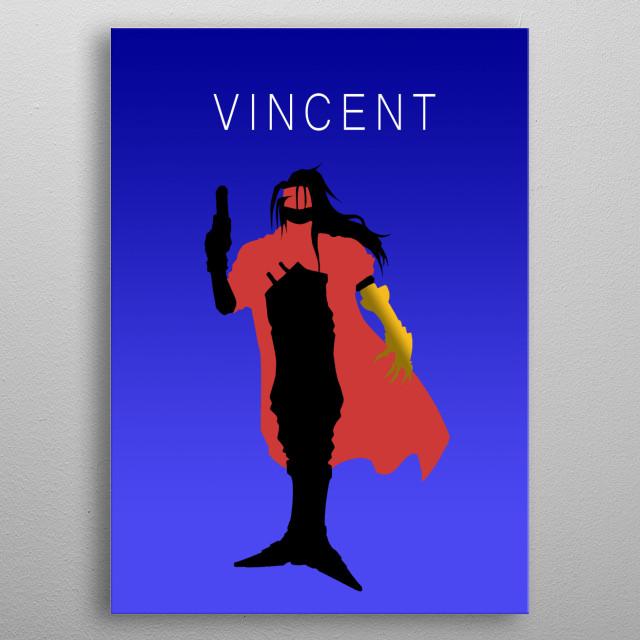Minimalist Vincent metal poster