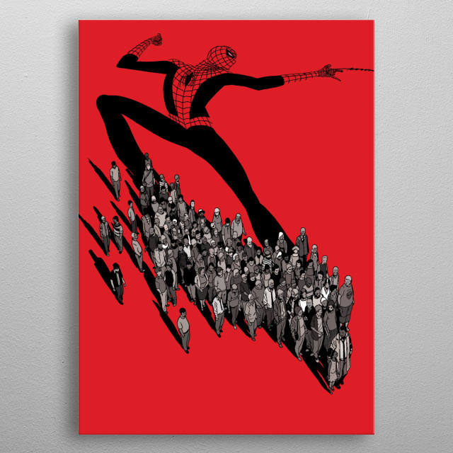 Fascinating metal poster designed by PopCulArt . Displate has a unique signature and hologram on the back to add authenticity to each design. metal poster