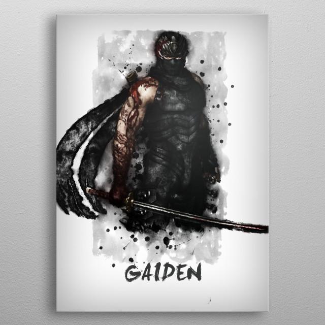 Ninja Gaiden metal poster