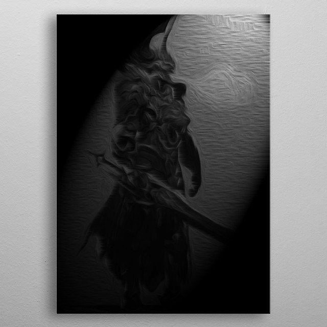 The knight of darkness metal poster