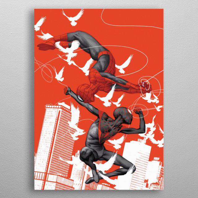 Spider-Man & Venom  metal poster