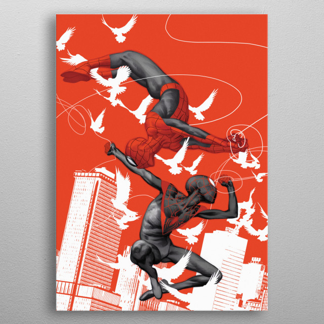 High-quality metal print from amazing Spider Man Geek collection will bring unique style to your space and will show off your personality. metal poster