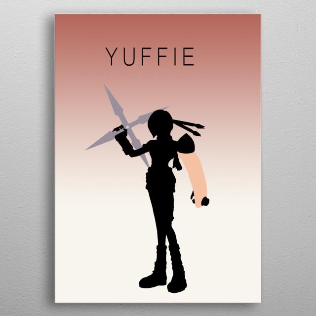 Minimalist Yuffie metal poster