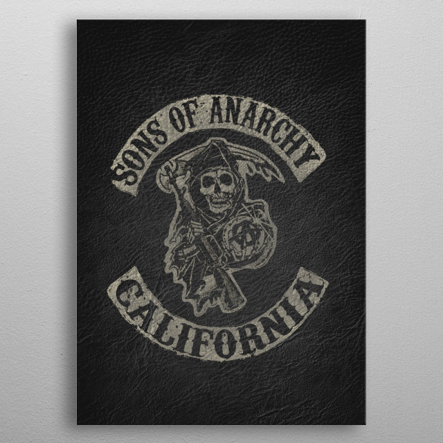 The Sons of Anarchy metal poster
