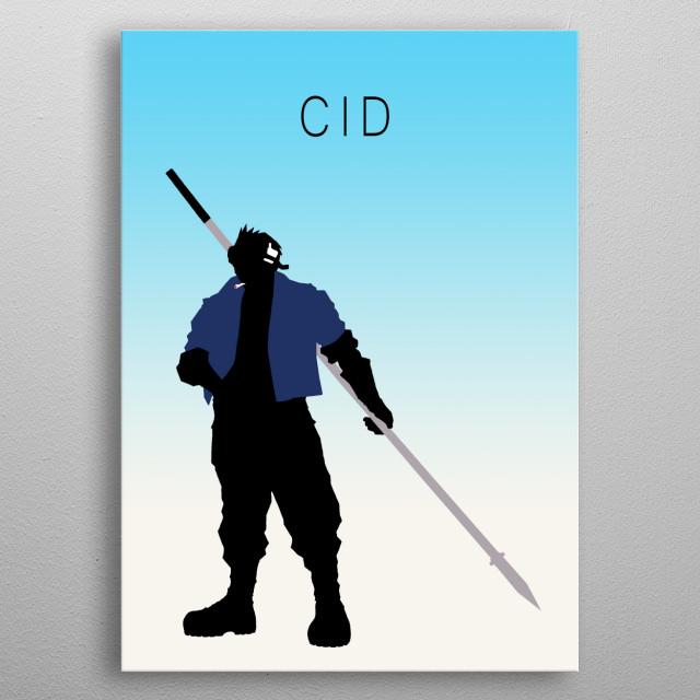 Minimalist Cid metal poster