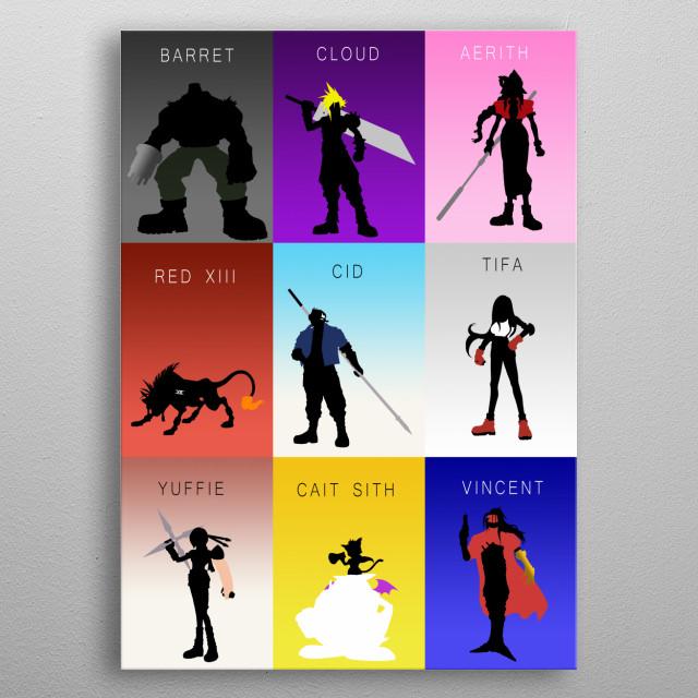 The Nine Heroes metal poster