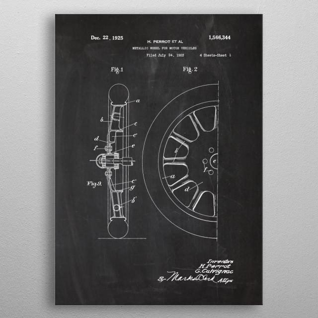 Wheel for Motor Vehicles metal poster