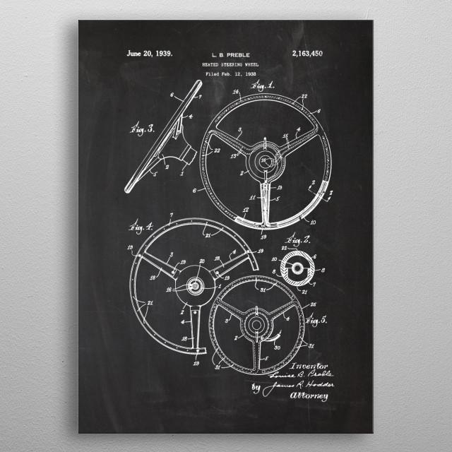 Heated Steering Wheel metal poster