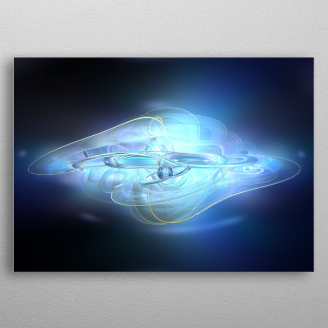 Abstract Blue ghost  metal poster