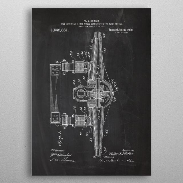 Wheel for Motor Trucks metal poster