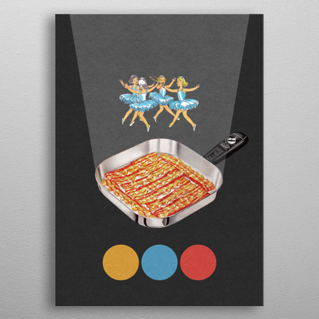 Bacon metal poster