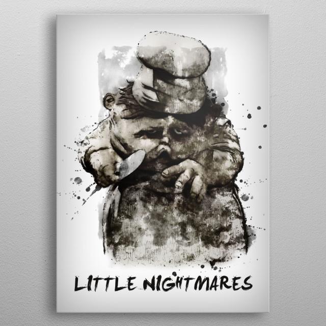 Little Nightmares metal poster
