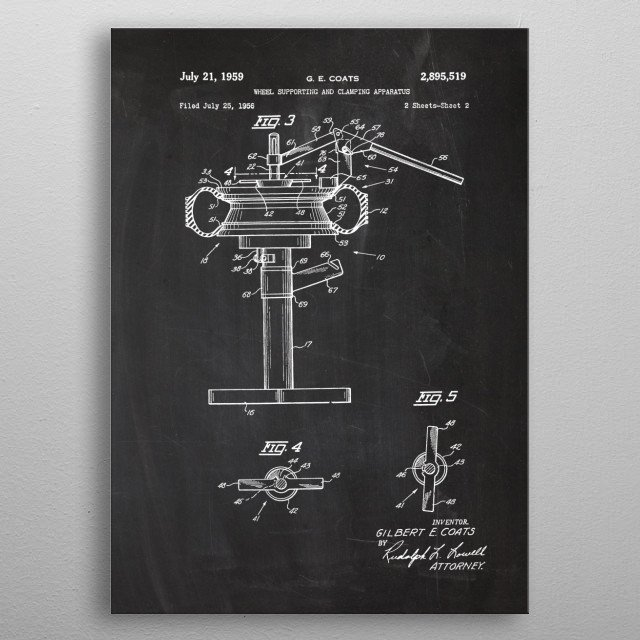 1956 Wheel Supporting metal poster