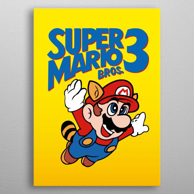 Mario - Super Mario Bros 3 metal poster