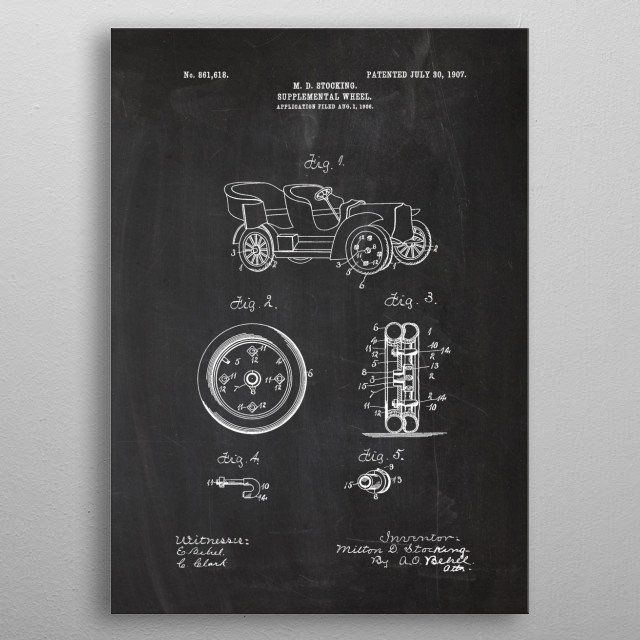 1906 Suplemental Wheel metal poster