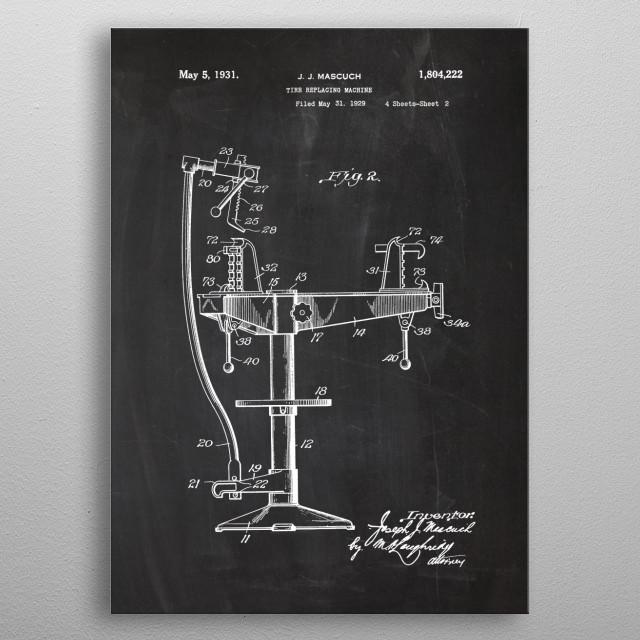 Tire Replacing Machine metal poster