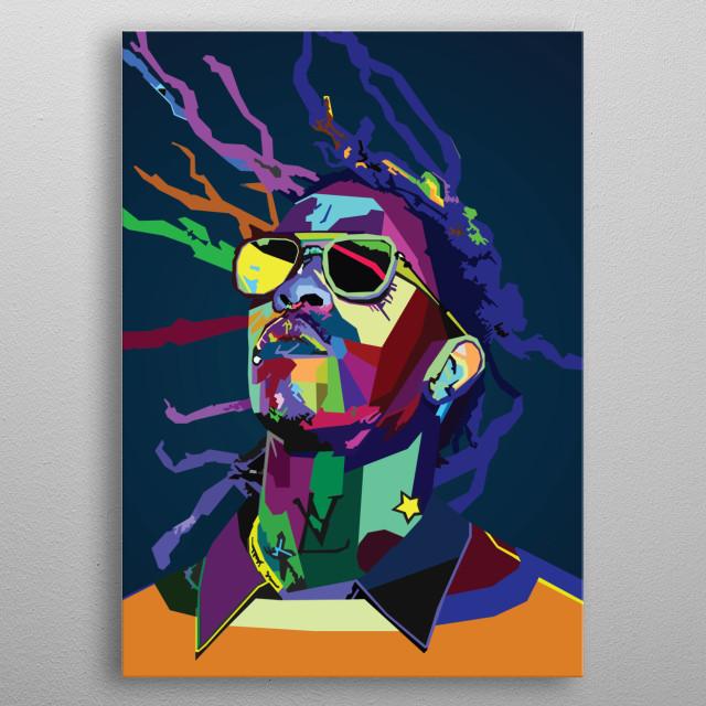 Young Thug Rapper Wpap Art metal poster