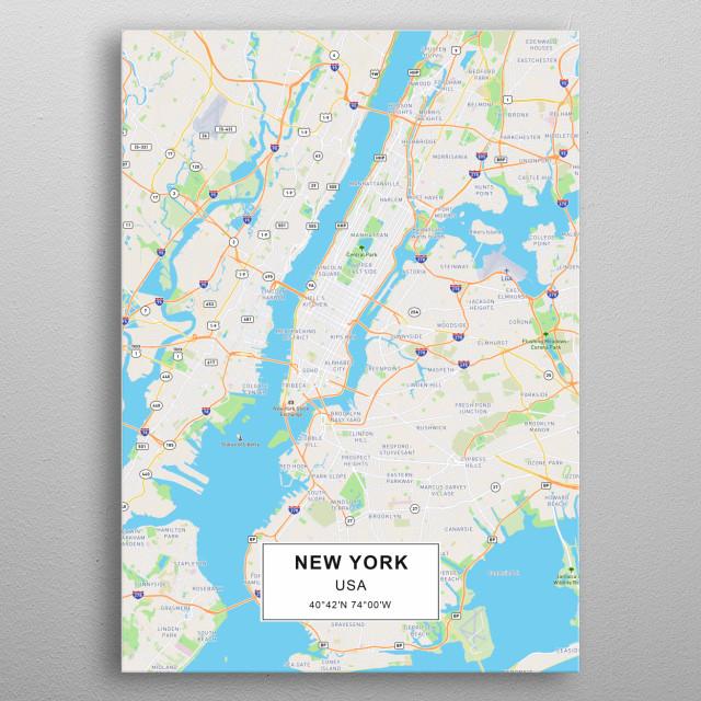 New York poster metal poster