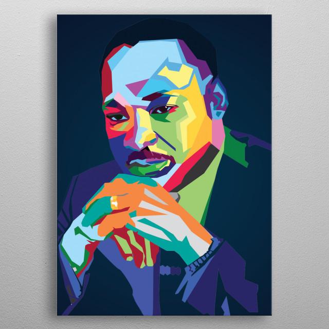 Martin Luther King Jr metal poster