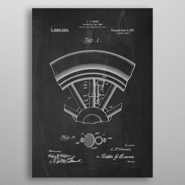 Automatic Tire Pump metal poster