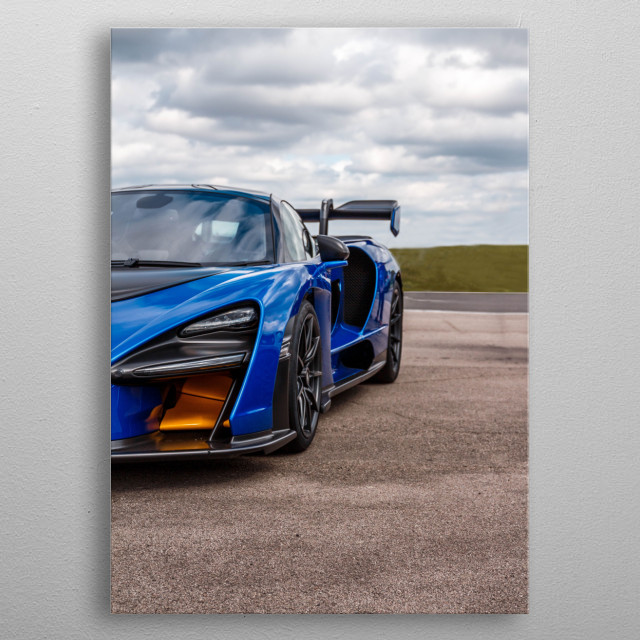 The McLaren Senna is a limited-production mid-engine sports car manufactured by McLaren Automotive. metal poster