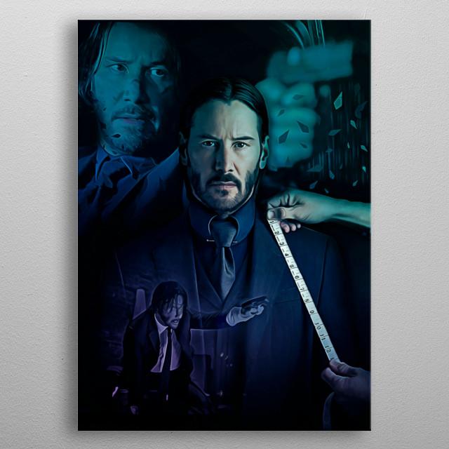 13 | Double John Wick metal poster